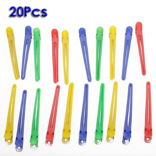 20pcs extra-longs legers clips de sectionnement 4 de pouce pour curl style de sectionnement