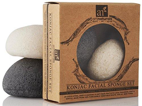 ArtNaturals Konjac, Set Esponjas Faciales 100% Natural
