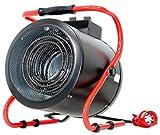 Heizgebläse DeTec. Bauheizer 9 kW Heizlüfter - Elektro Heizer DT-HL9-3 Heizgerät