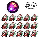 LUOEM 25Pcs LED Brosche Weihnachten Brosche Pin Anstecknadel Weihnachtsmann Abzeichen Brosche für Kind Geschenk Partei Bevorzugungen