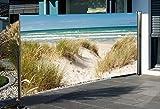 Seitenmarkise mit Fotodruck Ostsee 160 x 300cm RECHTS Sichtschutz Windschutz NEU