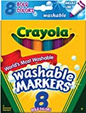 Die besten Waschbar Marker - Crayola Broad Line Washable Markers-Bold Colors 8/Pkg Bewertungen