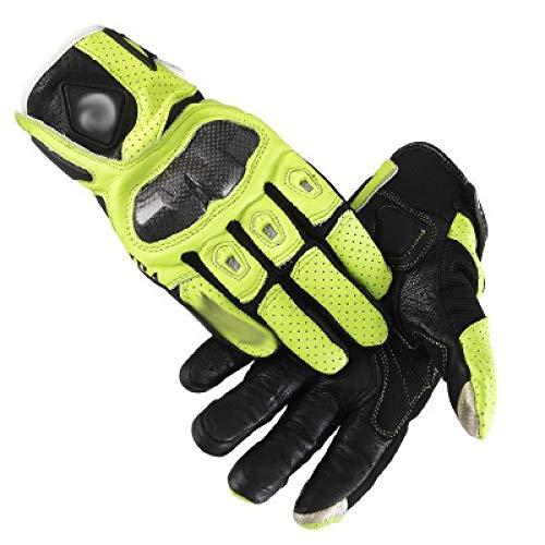 ST Gants De Moto pour Hommes, Sécurité Confortable, Gants De Course en Plein Air Respirants pour Sports Extrêmes,Vert,XL