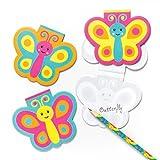 Baker Ross Bloc-Notes Jolis Papillons pour Enfants- Cadeaux Amusants pour Pochettes-Surprises pour Enfant (Lot de 6)