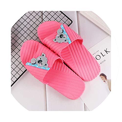 Summer Beach Slides Women Slippers Cartoon Cute Koala Home Slippers Slip on Sandals,8.5 (Retro Jordan Animal-print)