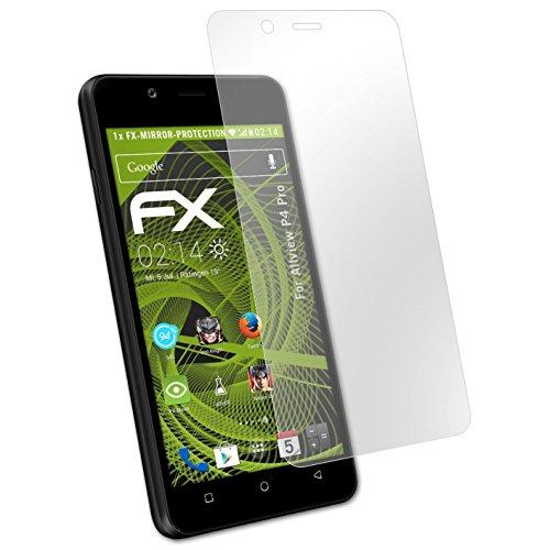atFolix Displayfolie für Allview P4 Pro Spiegelfolie, Spiegeleffekt FX Schutzfolie