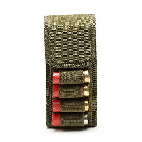 KOBWA Shotshell Buttstock Shell Halter, 16 Runde Wasserdichte Shotgun Shotshell Reload Halter Shotshell Fall Bullet Taschen Schrotflinte Shotshell Reload Halter Molle Pouch für 16 Gauge / 20G (20-gauge Schrotflinte Zubehör)