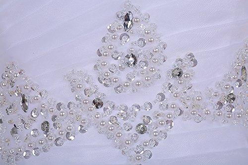 Find Dress Paillette Robe de Mariée Princesse Femme Plissé Multicouche Floral Cocktail Longue Party Anniversaire Col en Coeur Robe de Soirée Grande Taille Formelle en Tulle Blush