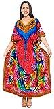 LA LEELA Badeanzug Kleid Langen Kaftan Multi Bademode Frauen Kimono Badeanzug vertuschen