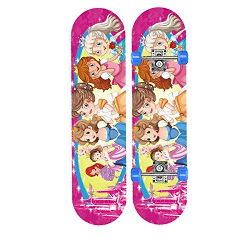 rd Komplett Longboard Double Kick Skateboard Cruiser 8 Lagen Ahorn Deck für Extremsport und Outdoor, 11,72cm ()