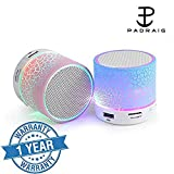 #6: Piqancy Wireless LED Bluetooth Speakers S10 Handfree With Calling Functions & FM Radio For All 2G-3G-4G Mobile Phone Assorted Colour)