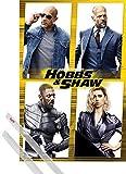 1art1 Poster + Sospensione : Fast & Furious: Hobbs & Shaw Poster Stampa (91x61 cm) Fast & Furious Presents: Cast E Coppia di Barre Porta Poster Trasparente