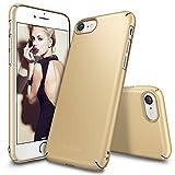 Custodia iPhone 7, Ringke [Slim] Snug-Fit Snella [Tailored Ritagli] copertura della pelle ultra-sottile Scratch Resistant doppio rivestimento leggero Custodia protettiva superiore del rivestimento dura del PC per Apple iPhone 7 - Royal Gold