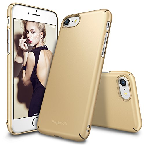Cover per iPhone 7 Ultra-Sottile in plastica dura (Oro)