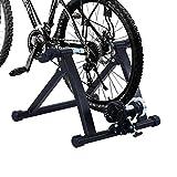 Home trainer pour velo noir equipement/support entrainement vélo