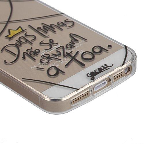 Coque Housse pour iPhone 6 Plus/6S Plus, iPhone 6S Plus Coque Clair Transparente Silicone Etui Housse, iPhone 6 Plus Souple Coque Ultra Mince Étui en Silicone, iPhone 6 Plus/6S Plus Silicone Transpare Love Line