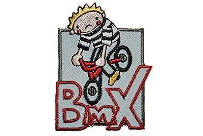 Reflex Junge mit Fahrrad 5,7 cm * 7,5 cm Bügelbild Aufnäher Applikation Patch