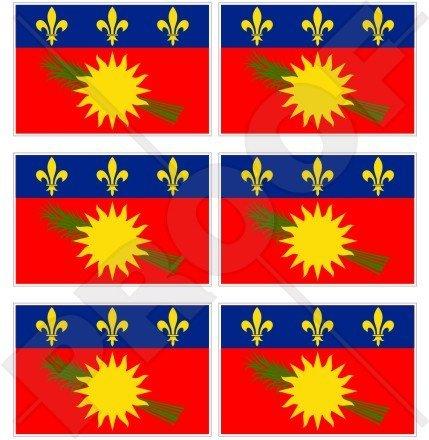 Stickers x2 Guadeloupe Drapeau en vinyle Bumper Stickers France gwadloup Cara/ïbes Gwada 10,2/cm 100/mm Noir