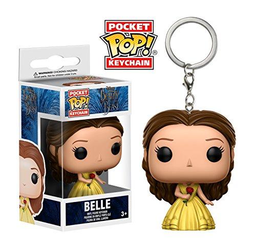 Funko Pop llavero Bella con vestido amarillo (Bella y Bestia) Funko Pop La Bella y la Bestia