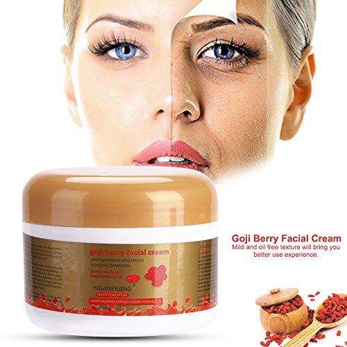 Feuchtigkeitsspendende Whitening Nacht Creme (Goji Beere Anti-Aging Gesichts Creme Whitening Moisturizer Revitalisieren Antioxidans Tag / Nacht Creme)
