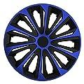 RKK06 Multi-Color Line (Schwarz-Blau) Radkappen / Radzierblenden 4 Stück