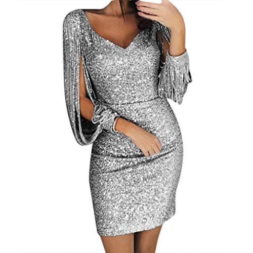 WoWer Damen Abendkleid Elegant Sexy Slim Pack