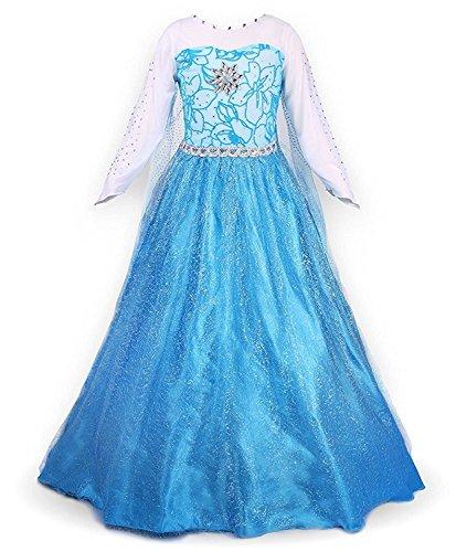 YuanYan Prinzessin Kleid Karneval Verkleidung Party Mädchen (Anna Kleine Kostüm Mädchen)