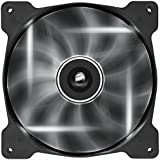 Corsair CO-9050017-WLED Air Series AF140-LED Quiet Edition 140mm High Airflow LED Lüfter, Weiß