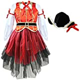 feeshow Deluxe 3pcs Princesa de los Mares de pirata Niños Disfraz