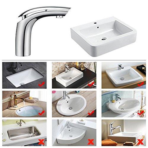 Homelody Wasserhahn Bad Einhebelmischer Mischbatterie Chrom Waschbecken Armatur Waschtischbatterie Waschtischarmatur Badarmatur - 6