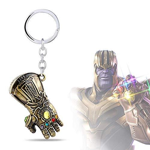 KOBWA - Llavero Personalizable – Infinity War Gauntlet Avengers Llavero de Metal Colgante Regalo