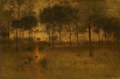 Das Museum Outlet-George Inness-Die Heimat der Heron-Canvas Print Online kaufen (61x 81,3cm)