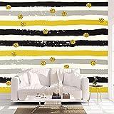 3D Vlies Fototapete Wallpaper Mural Nordic Moderne Minimalistische Geometrie Große Tapete Wandbild 3D Filmstreifen Wandverkleidung Wohnzimmer Tv Hintergrund Tapeten, 300 * 210 Cm