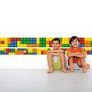 Autocollant effet des briques Bordure pour Chambre D'Enfants - 20 x 568 cm