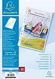 Exacompta 5800E Packung (mit 100 Prospekthüllen, oben und seitlich geöffnet, glatt und gelocht aus PP 60µ, Din A4, 21 x 29,7 cm) 100er Pack kristall
