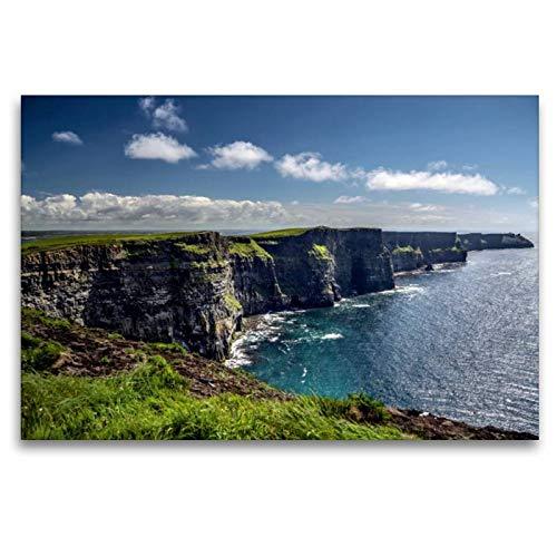 Premium Textil-Leinwand 120 x 80 cm Quer-Format Cliffs of Moher | Wandbild, HD-Bild auf Keilrahmen, Fertigbild auf hochwertigem Vlies, Leinwanddruck von Dirk Stamm