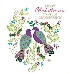 """The Art file Christmas Cards–""""Merry Christmas To Special Grandparents"""""""