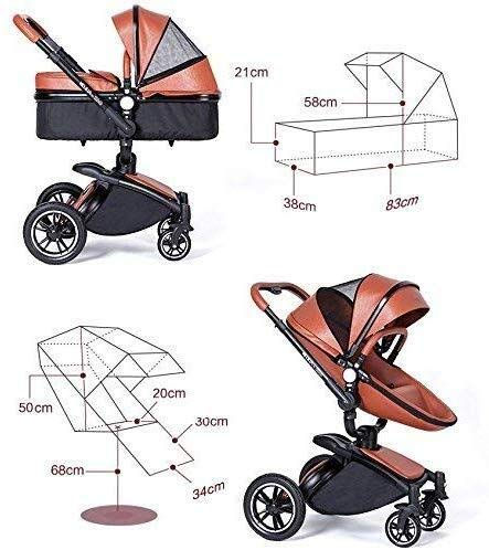 LAZ 2 in 1 Baby Stroller for Newborn and Toddler, High View Travel System Pushchair Pram Buggy (Color : Pink) LAZ Suitable for baby strollers from birth to 25 kg, each stroller is pressure tested to ensure the safety of each baby. Multi-position Reversible Seat: Carrycot for newborn to 6 months can simply convert to seat for toddlers. Easily switch from the carrycot to toddler seat once your baby is 6 months old or can sit unaided,making it an ideal stroller for both infant and toddler. Reversible seat design allows baby to face you or face the world 7