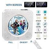 Tragbarer CD-Player, Bluetooth-CD-Player, integrierter HiFi-Lautsprecher, FM-CD-Radio, USB-MP3-Musik, AUX-EIN- / Ausgang mit 3,5-mm-Buchse, mit Zugschalter / Fernbedienung als Geschenk für Freunde