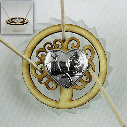 Dlm26449 profumatore barattolo in vetro albero della vita cuore per cresima bomboniera