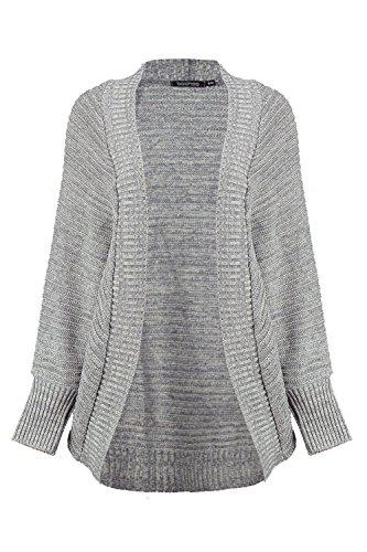 gris Femmes Rosie Soft Knit Batwing Cardigan Gris