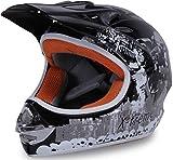 Actionbikes Motors Motorradhelm Kinder Cross Helme Sturzhelm Schutzhelm Helm für Motorrad Kinderquad und Crossbike in schwarz