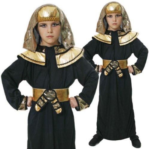 (Jungen ägyptisch Kostüm Pharao Arabischer Prinz König Kostüm 3 Größen 4-12 - Large 10-12 years)