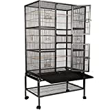 Costway Large Bird Cage Two Doors Parrot Chinchilla Cockatiel Conure W/Stand