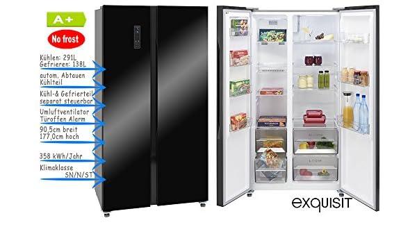 Mini Kühlschrank No Frost : Kühlgefrierkombination side by side schwarz glanz nofrost led