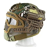 QP Helm Maske Schützende Taktische Maske Motorrad Fahrrad Erwachsener Multicolor,Camouflage,OneSize