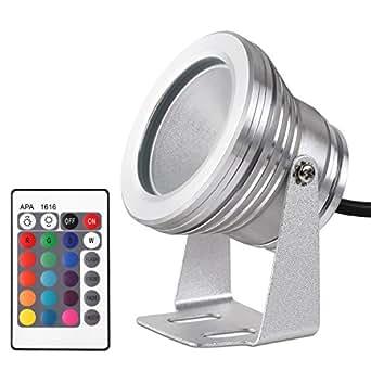 10w rgb led flutlicht fluter stahler scheinwerfer licht einbaustrahler wasserdicht ip65 12v mit. Black Bedroom Furniture Sets. Home Design Ideas