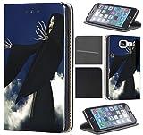 Samsung Galaxy S8 PLUS Hülle von CoverHeld Premium Flipcover Hülle Samsung S8 PLUS aus Kunstleder Flip Case Motiv (1322 Sensenmann Skelett Skull Schwarz Blau)