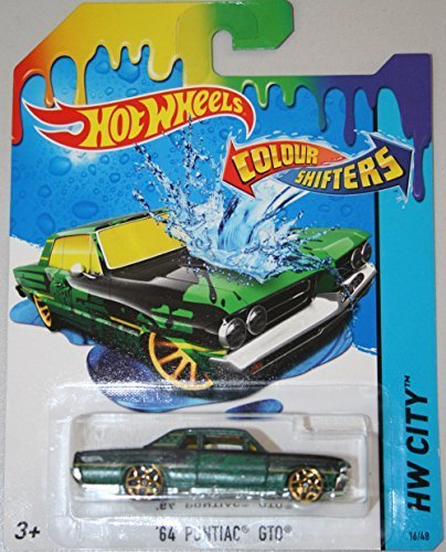 Hot Wheels Colour Shifters '64 Pontiac GTO (Green) - HW City 2015 BHR53 16/48 by Hot Wheels (Hot Gto Wheels)