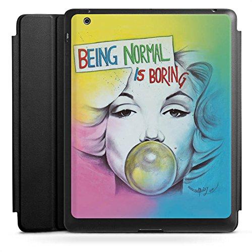 d 4 Smart Case schwarz Hülle mit Ständer Schutzhülle Marilyn Monroe Star Sayings ()